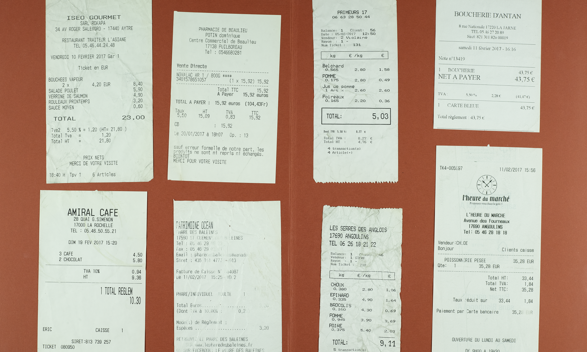Receipts Images and Texts